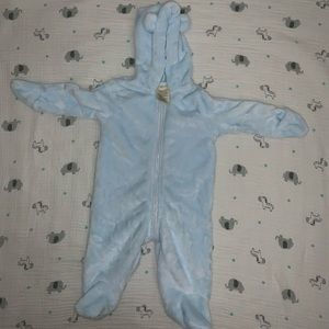First Impressions warm fuzzy footed body suit